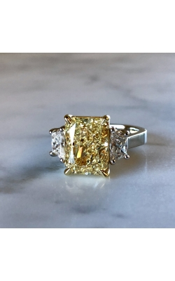 Platinum And 18 Karat Yellow Gold Diamond Ring product image