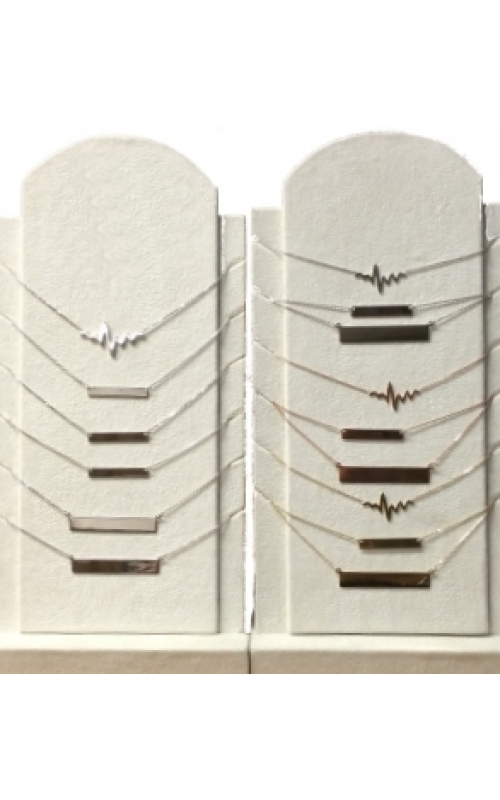 Skeleton Bar Necklaces  Heartbeat Necklaces product image