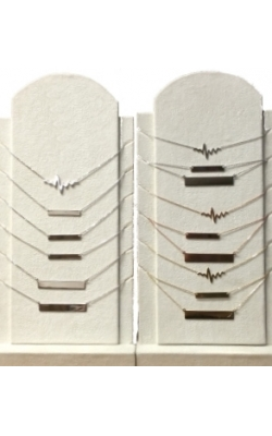 14kt White, Yellow Or Rose Gold Heartbeat Necklaces product image
